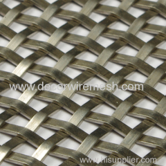 crimped wire mesh for partition decor