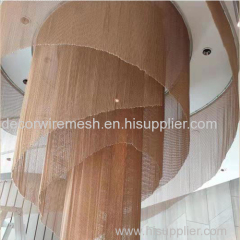 Ceiling Decoration with Metal Fabric