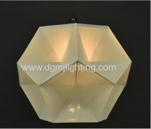18023 Geometric Creased Parchment Pendant D350mm