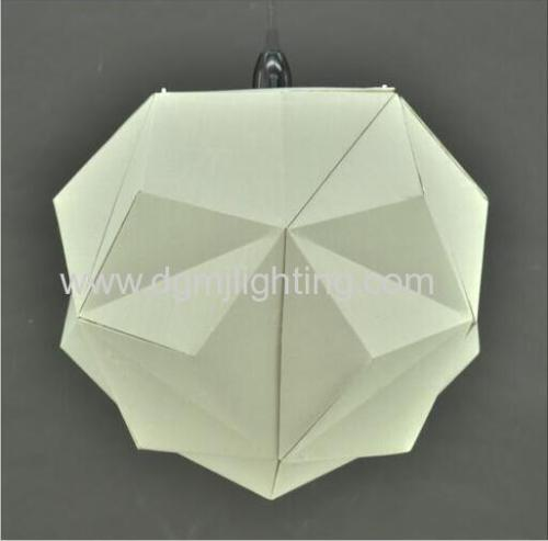 18024 Geometric Creased Parchment Pendant D350MM