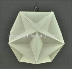 D350MM Geometric Creased Parchment Pendant