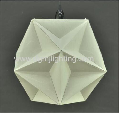 D350MM Geometric Creased Parchment Pendant