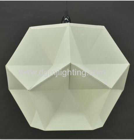18023 Geometric Creased Parchment Pendant D350mm