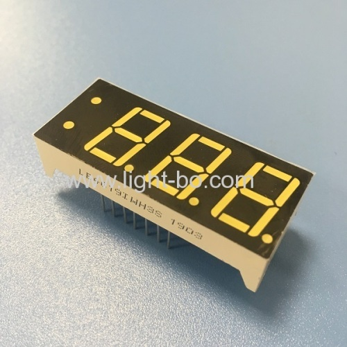 Ultra white customized triple digit 7 segment led display common anode for instrument panel