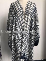 viscose printed poncho wrap shawl kimono