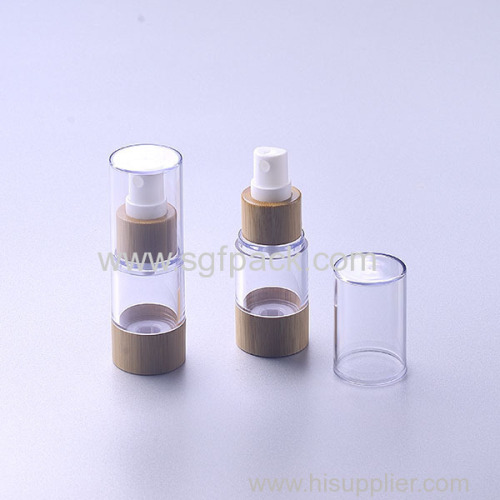 bamboo airless bottle for packaigng