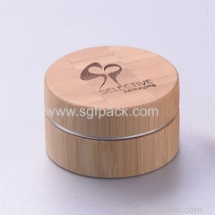 bamboo cream jar with aluminum inner