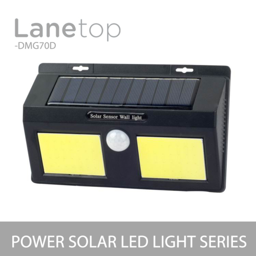 Motion Sensor 5W COB Outdoor LED Solar Wall Garden Light