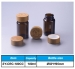 100ml amber jar with bamboo child proof cap