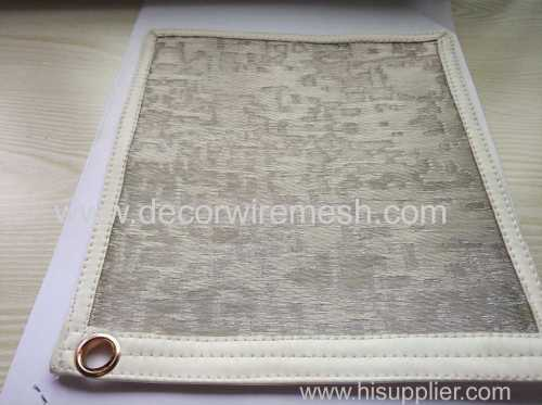 woven embroider metal mesh