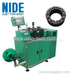 Automatic brushless motor stator slot paper insertion equipment