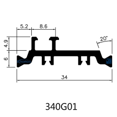 34mm Thermal Struts PA66 GF25 Insulation Profiles for Windows & Doors