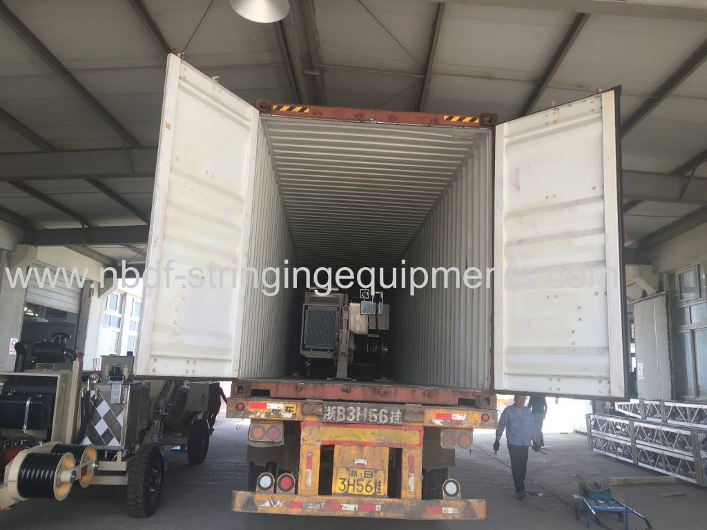 Conductor Pulling Equipment loaded in container