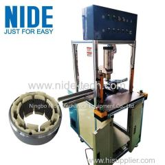 Auto BLDC motor stator insulation end plate board pressing machine