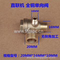 Direct-on-line special check valve