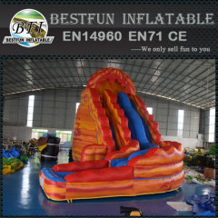 Volcano Lava Inflatable twist Water Slide