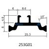 25.3mm Eurogroove Design Polyamide Thermal Struts for Aluminum Windows