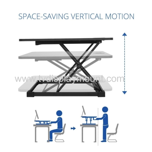 Laptop Height Sit To Stand Up Standing Desk Adjustable Desk Computer Table