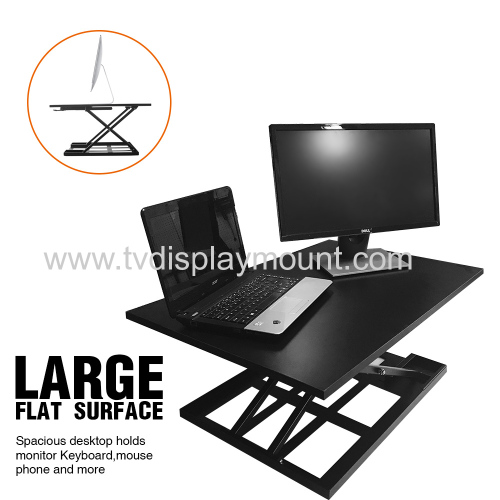 Curved Horizontal Rail Dual LCD Monitors Array Desk Mount desk stand monitor