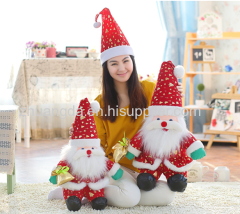 Christmas hats Christmas decorations a large ball of plush Santa hats