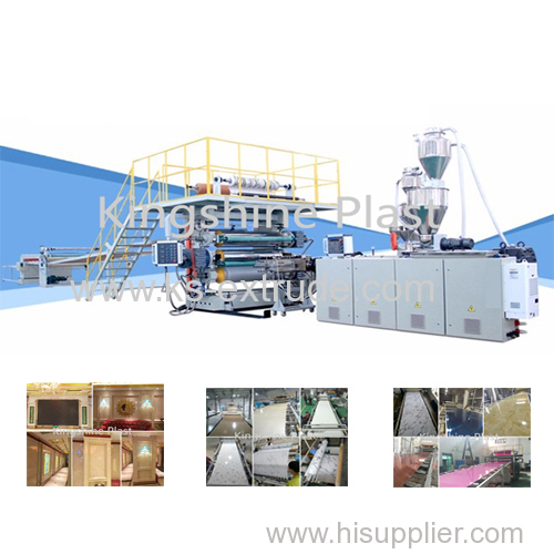 PVC twin screw Laminate Sheet Line