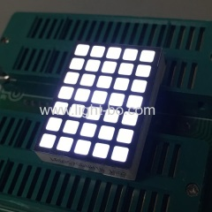 square dot matrix;of 5x7 dot matrix display;dot matrix display; white dot matrix