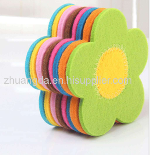Household hollowed-out felt coasters tea cups insulation felt coasters and decorations