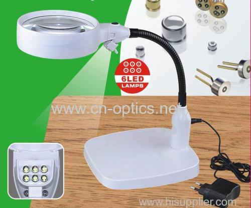 6pcs LED desktop magnifier
