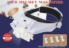 3LED HELMET MAGNIFIER with two level brightness