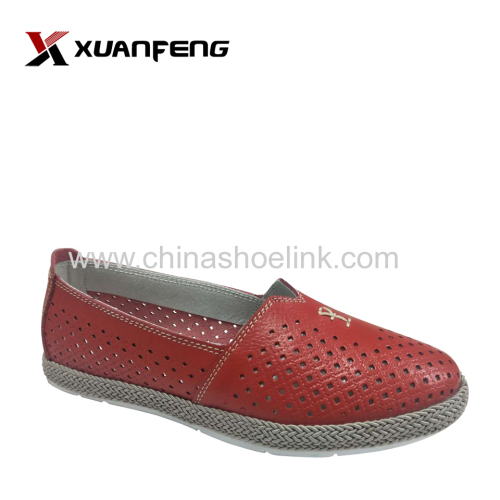 Espadryle style leather shoes for 2020SS