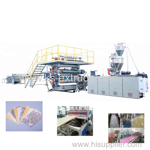 PVC Furniture Marble Sheet Production Line