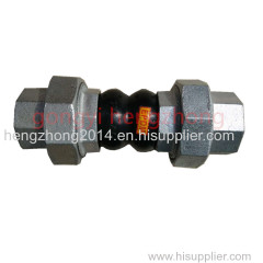 Screw union connection thread thread rubber joint