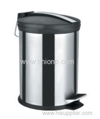 12L Stainless steel dust bin