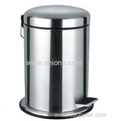 20L Round Stainless steel dust bin