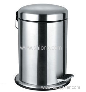 8L Round Stainless steel dust bin