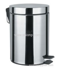 Round Stainless steel dust bin 8L