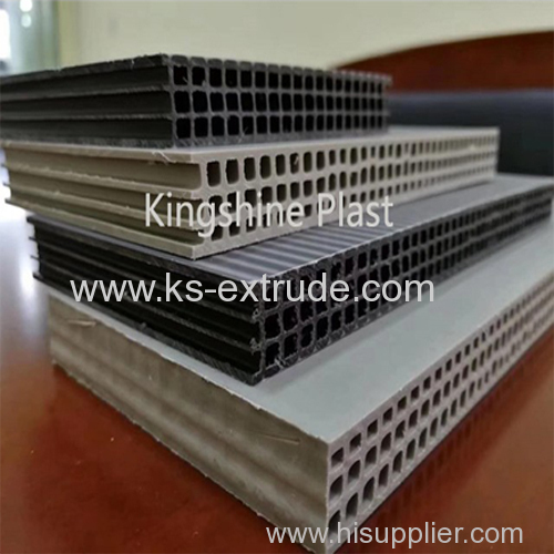 PP hollow construction template extruder machinery