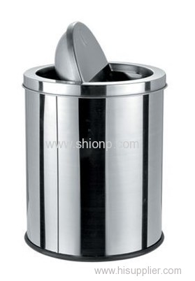 5L Flip-lid Stainless steel dust bin
