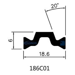 PA66 GF25 Thermal Break Polyamide Profiles for Aluminum Windows & Doors