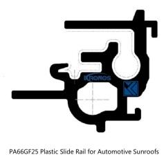 Efficient Vehicle Profiles Plastic Slide Rails for Automotive Sunroofs