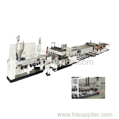 KS120-90 PP hollow construction template making line