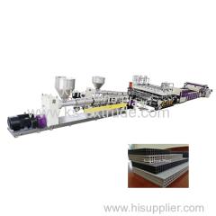 KS120-75 PP Hollow Construction Template Production Line