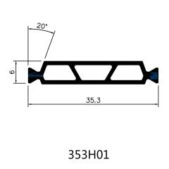 35.3mm PA66 GF25 Hollow Chamber Thermal Insulation Polyamide Profiles