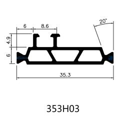 35.3mm PA Insulating Profiles with Hollow Chambers for Aluminum Windows and Doors