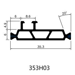 Multi Cavity Thermal Insulating Polyamide Profiles for Aluminum Windows and Doors