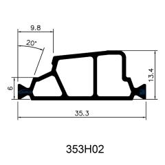 35.3mm Hollow Chamber Polyamide Insulating Profiles for Aluminum Windows & Doors