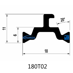 18mm PA66 GF25 Thermal Break Polyamide Strips for Aluminum Windows & Doors