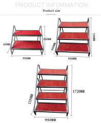 Stage ladders for folding stages