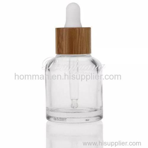 30ml Natural Bamboo Collar Glass Essential Oil Dropper Bottle