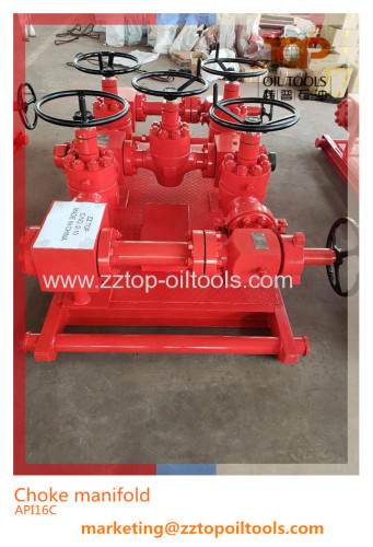 High Pressure Choke Manifold for oil well flow control